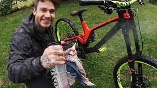Mountainbike gründlich & schnell waschen! KEINE rostige Kette - Pflegetipps | Fabio Schäfer How-To