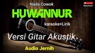 HUWANNUR   Santri Njoso   Karaoke Akustik   Nada Cowok