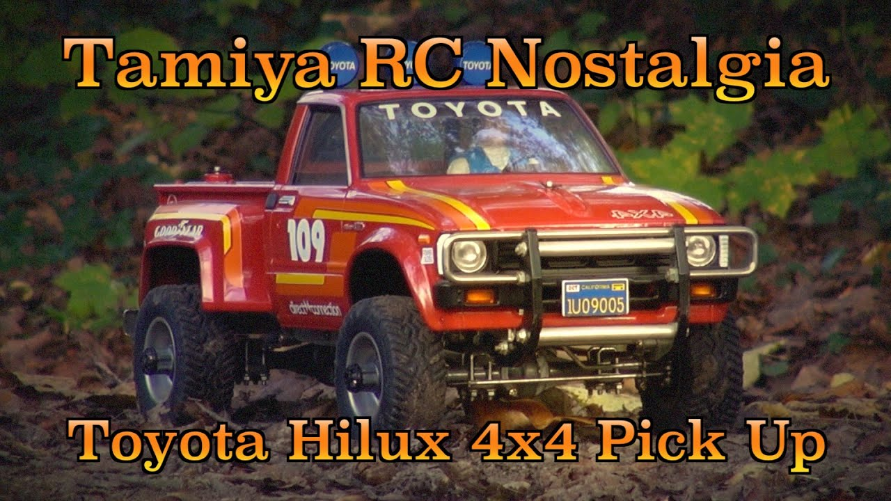 tamiya rc nostalgia the first scaler in rc toyota hilux 4x4 pick up youtube. Black Bedroom Furniture Sets. Home Design Ideas