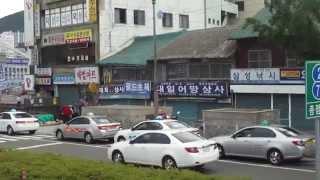 City Road trip in Busan South Korea on board a double decker tour bus