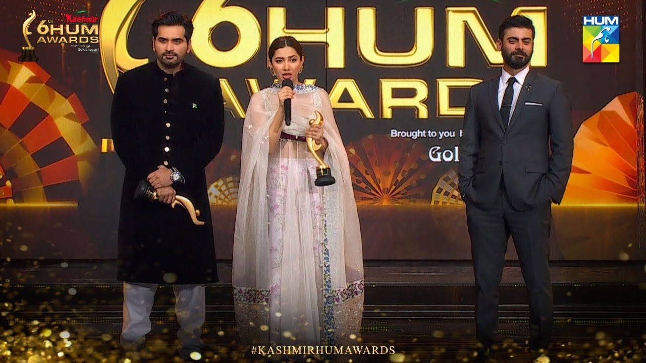 Catch your Favourite Humayun Saeed, Mahira Khan and Fawad Khan on the stage | Kashmir 6th HUM Awards