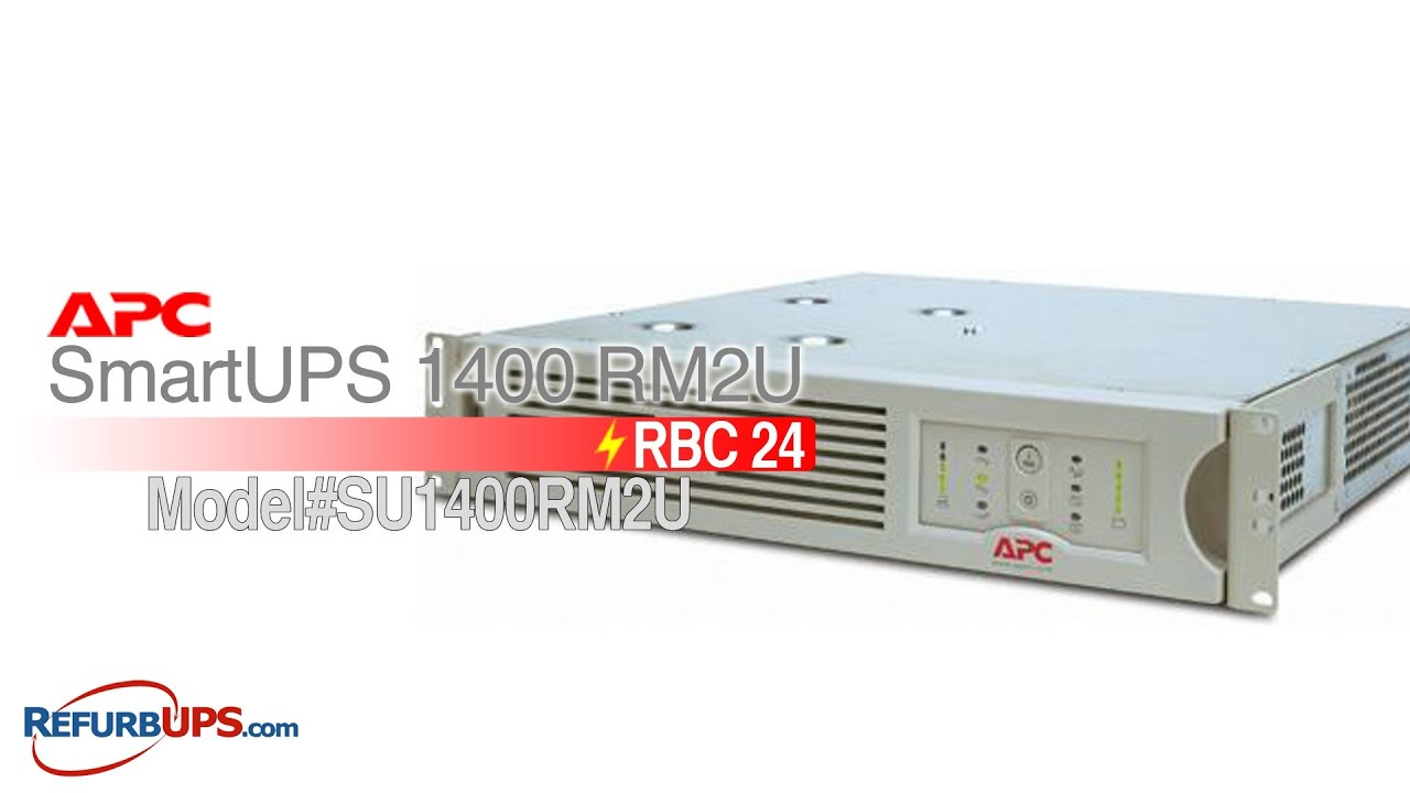rbc24 battery replacement for apc smartups 1400 rm2u [ 1280 x 720 Pixel ]