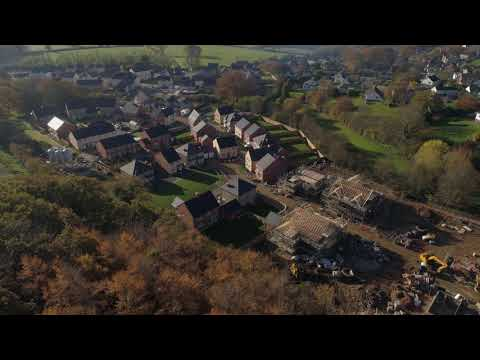 Aerial drone footage of private  housing