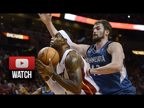 2014.04.04 - Kevin Love vs LeBron James Full Battle Highlights - Timberwolves at Heat 2OT