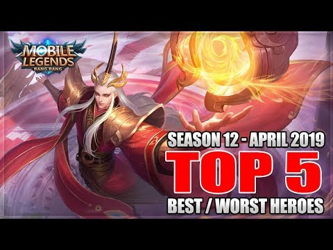 2019 TOP 5 BEST AND WORST HEROES IN MOBILE LEGENDS
