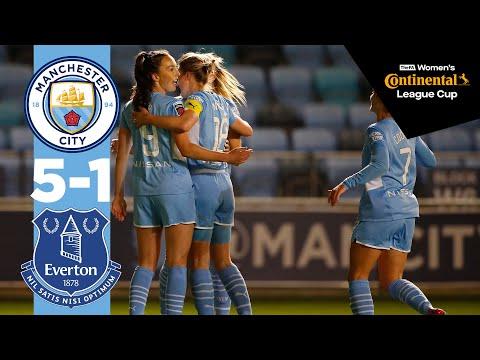 Weir Wondergoal! | Man City Highlights | City 5-1 Everton | Continental Cup