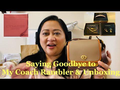 I Sold My Coach Rambler 16 🙊  Coach Handbag Unboxing And Accessories
