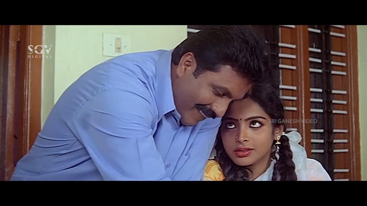 Police B C Patil Love Propose to Uneducated Girl   Krishnarjuna Kannada Movie Part-3   Ragasudha