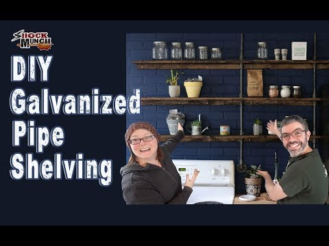 DIY Galvanized Pipe Kitchen Shelves