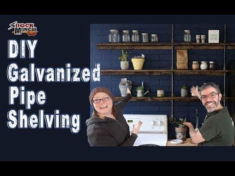 DIY Galvanized Pipe Kitchen Shelves