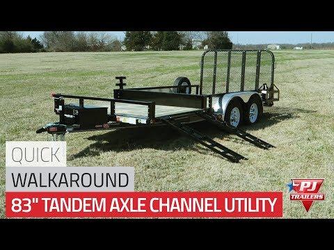 "83"" Tandem Axle Channel Utility (UL) Quick Walkaround"