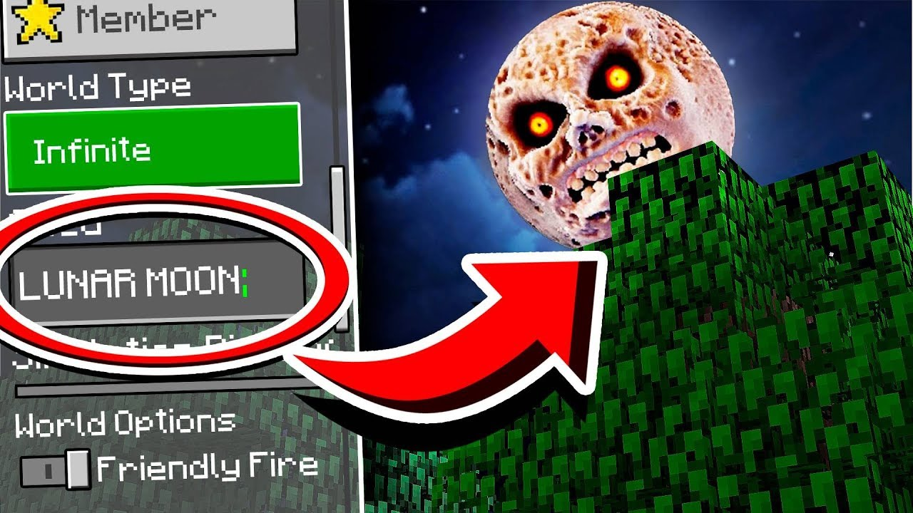 Do NOT Use The LUNAR MOON Seed in Minecraft at 3:00 AM!