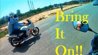 Guy With Pillion Rider on Stock Karizma ZMR Tried to Race me!!