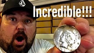 Incredible Peace Dollar Score Live At A Bank! Plus $6,000.00! Tons Of Silver Enders!