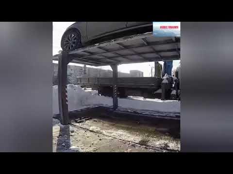 Изобретатель из Челябинска сделал подземный лифт для своего Автомобиля. Как тебе такое Илон Маск ?