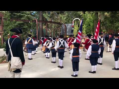 American Colonial Patriotic marching band SkyPark Santa's Village