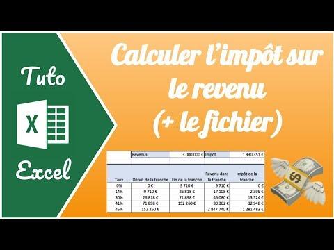 formule excel calcul impot revenu