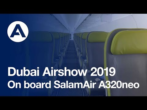Welcome on board SalamAir #A320neo at #DubaiAirshow 2019