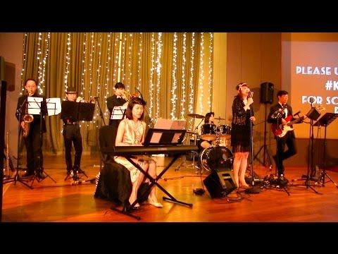 7pc band GATSBY theme wedding - Capella Sentosa