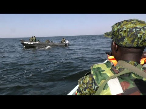 Ugandan army marine forces clamp down on illegal fishing