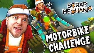 Scrap Mechanic! - MOTORBIKE CHALLENGE! Vs AshDubh - [#11] | Gameplay |