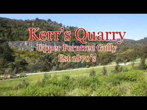 RF Kerr Quarry, Upper Ferntree Gully, Melbourne Australia.