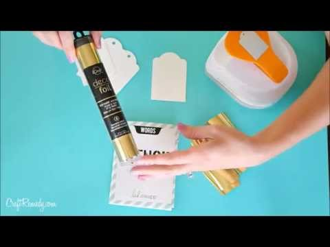 GOLD FOIL projects on the cheap TUTORIAL
