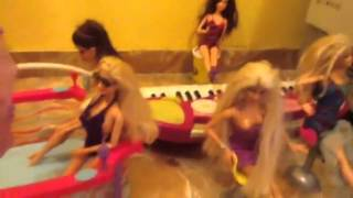 Barbie life in a dreamhouse with dolls