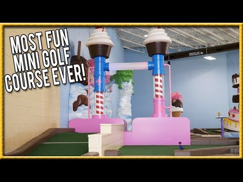 THE BEST AND MOST FUN MINI GOLF COURSE EVER! - THE CRAZIEST HOLES IN ONE!