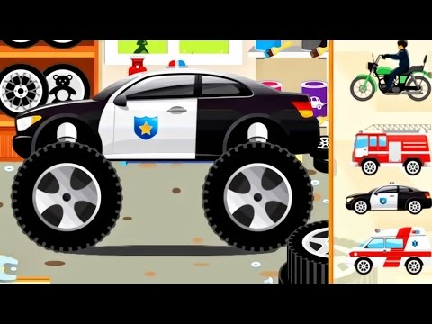 Thumbnail: Cars for KIDS : Monster Truck - Police Car, Ambulance, Fire Truck for Children