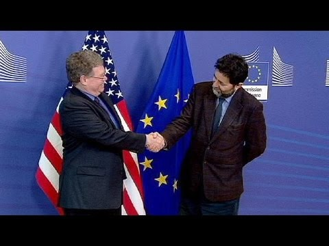 EU and US resume trade talks after spying tensions