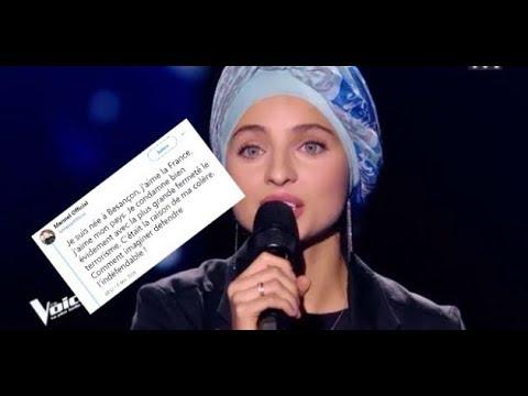 MENNEL UNE CHANTEUSE MUSLIM DENONCE LE MENSONGE DES ATTENTATS ET QUITTE THE VOICE ?!?!