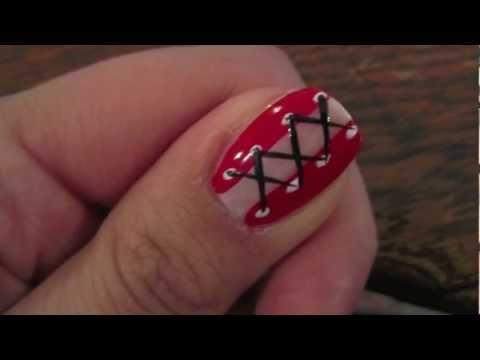 Moustache nails nail arts video fanpop nail art prinsesfo Choice Image