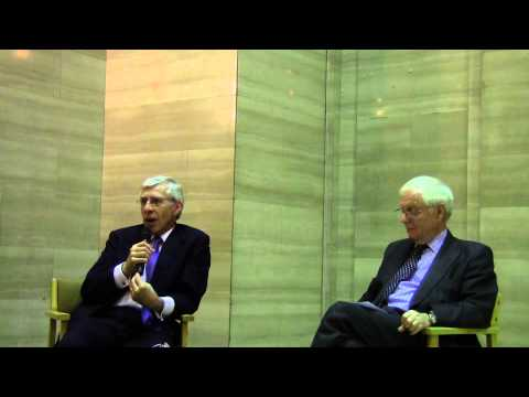 The Right Honorable Jack Straw MP in conversation with Sir Emyr Parry