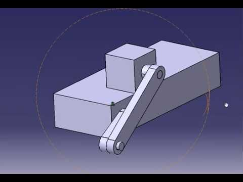 Off Set Slider Crank Mechanism Animation