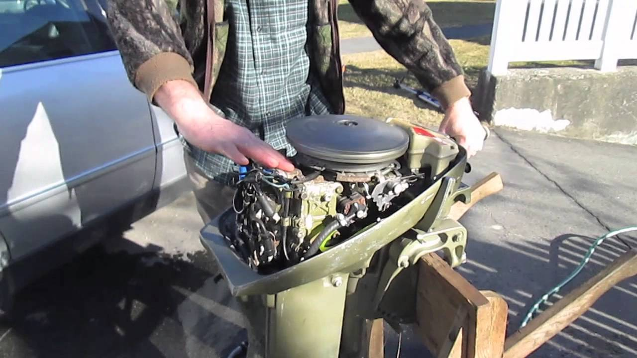 Modified 15hp Johnson Outboard Spring '13 Test Run  YouTube
