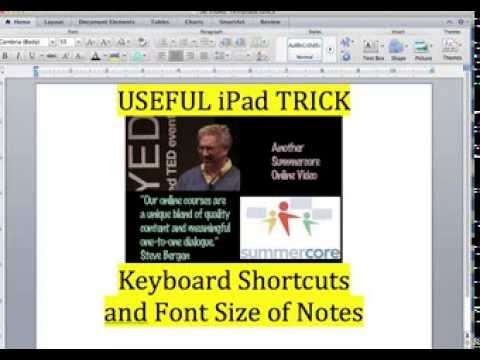 Two Skills in This Video -- Keyboard Shortcuts & Font Size of Notes