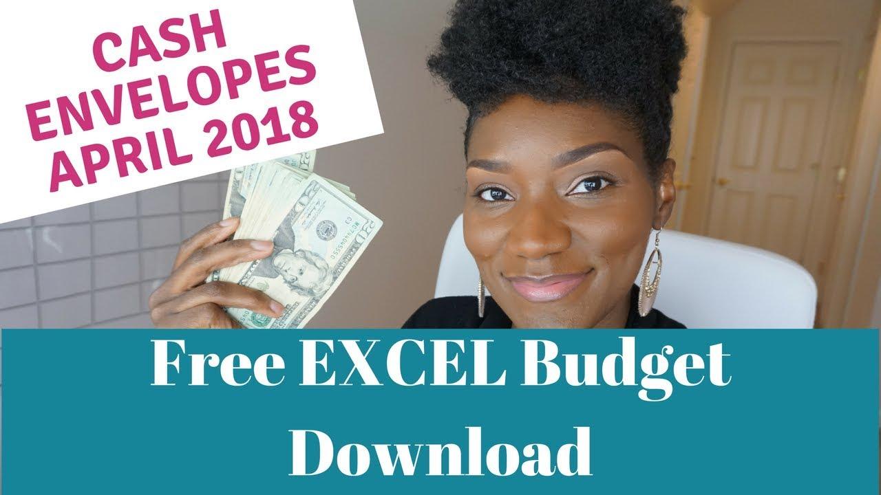 April 2018 Cash Envelopes| Cash Envelope Budgeting | Free Excel Budget  Template Download