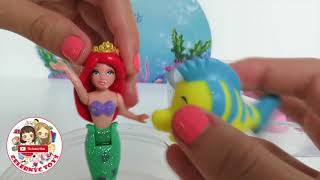 RARE Ariel Deluxe Fashion Princess Set - Polly Pocket Dresses The Little Mermaid Story Set Disney Pa