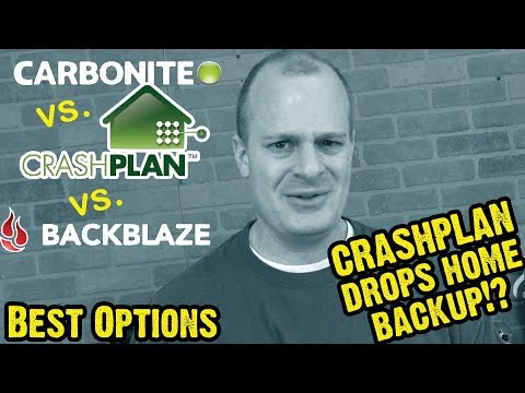 Crashplan vs. Carbonite vs. Backblaze Mid 2017 (AFTER Crashpan Drops Home Backup)
