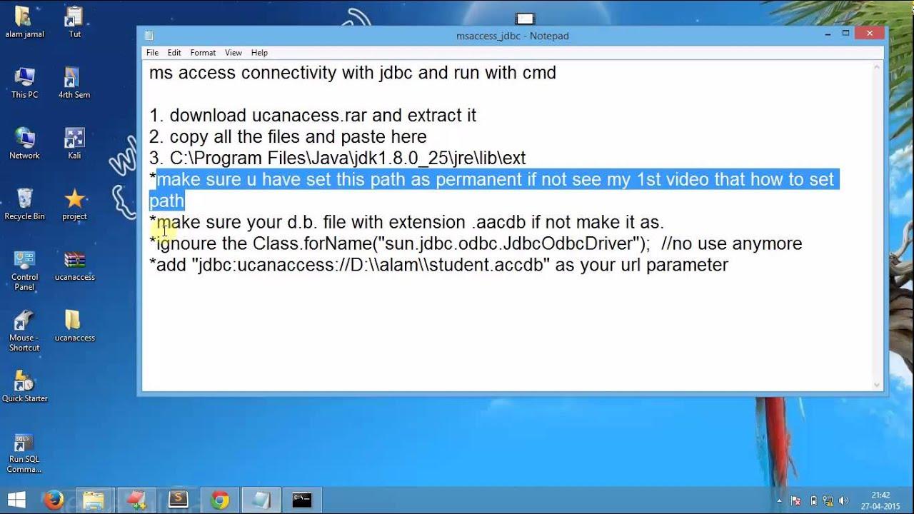 HOW TO ADD SUN.JDBC.ODBC.JDBCODBCDRIVER WINDOWS 10 DRIVER