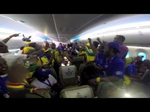 DireTube Video - Ethiopian Football team fans having fun during flight to Seychelles