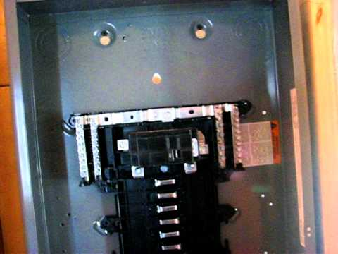 hqdefault how to install a 100a sub panel youtube homeline breaker box wiring diagram at couponss.co