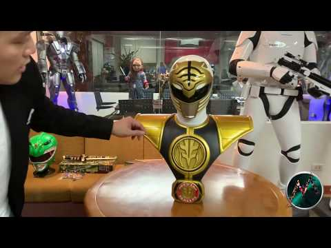 MIGHTY MORPHIN POWER RANGERS WHITE RANGER LIFE-SIZED BUST by Pop Culture Shock Toys  Ryan Sison