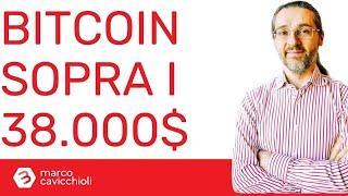 Prezzo di bitcoin: oggi sopra i 38.000$