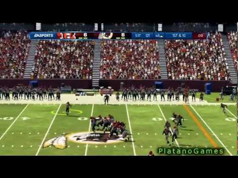 NFL 2012 Wk 3 - Cincinnatti Bengals (1-1) vs Washington Redskins (1-1) - Overtime - Madden