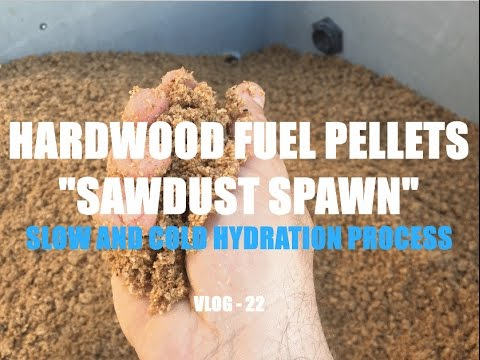 """WTF VLOG - 22 HARDWOOD FUEL PELLETS """"SAWDUST SPAWN"""" - SLOW AND COLD HYDRATION PROCESS"""