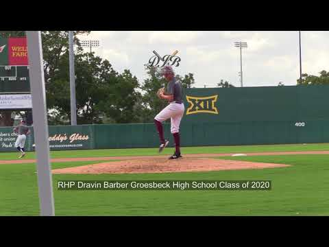 RHP Dravin Barber Groesbeck High School Class of 2020