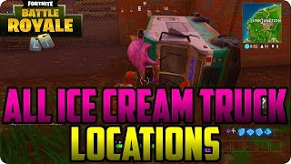 Visit Different Ice Cream Trucks (ALL LOCATIONS) Fortnite Battle Royale Pass Challenges