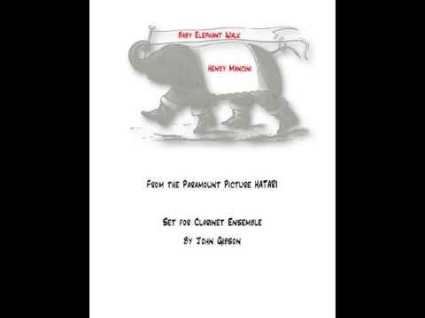 Baby Elephant Walk for Clarinet Ensemble